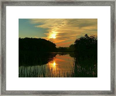 Sunrise Reflections Framed Print