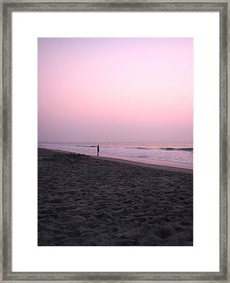 Sunrise Reflections Framed Print by Peggy Burley