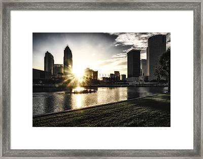 Sunrise Row Framed Print by Michael White