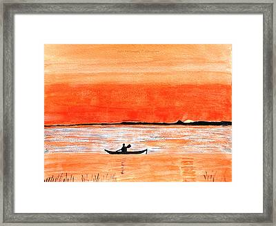 Sunrise Sail Framed Print