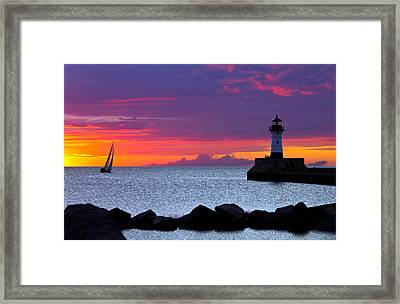 Sunrise Sailing Framed Print