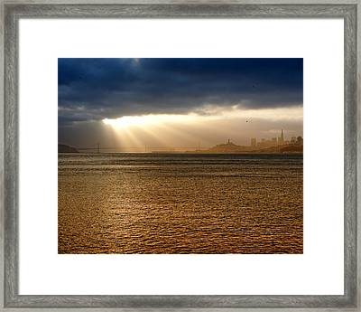 Sunrise San Francisco Bay Framed Print by Troy Montemayor