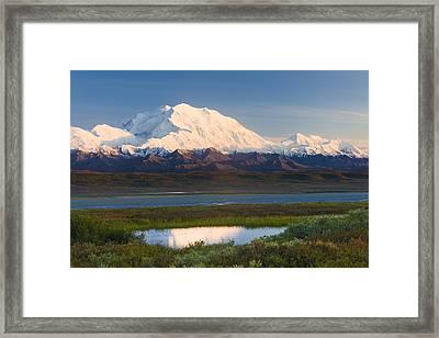 Sunrise Scenic Of Mt. Mckinley Framed Print