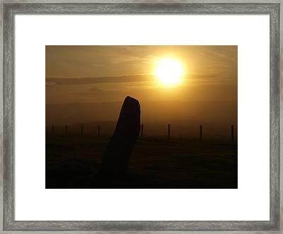Sunrise Silhouette Scotland Framed Print by Michaela Perryman