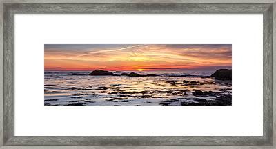 Sunrise Silhouettes Odiorne Point Framed Print