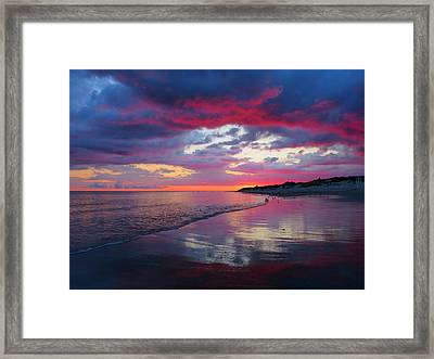 Framed Print featuring the photograph Sunrise Sizzle by Dianne Cowen