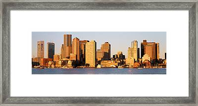 Sunrise, Skyline, Boston Framed Print by Panoramic Images