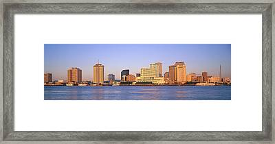 Sunrise, Skyline, New Orleans Framed Print by Panoramic Images