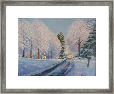 Sunrise Snow Framed Print