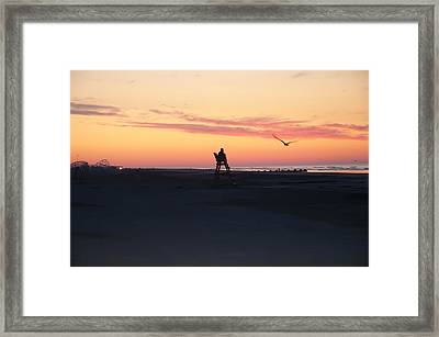 Sunrise Solitude Framed Print by Bill Cannon