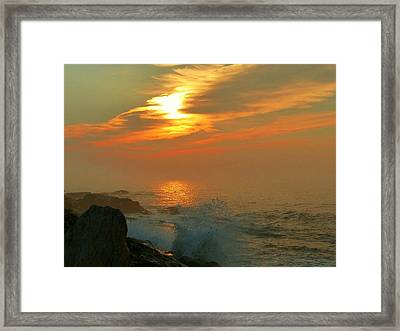 Sunrise Splash Framed Print
