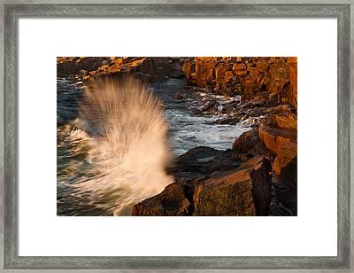 Sunrise Splash Framed Print by Jonathan Steele