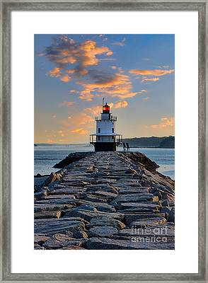 Sunrise Spring Point Ledge Framed Print by Jerry Fornarotto