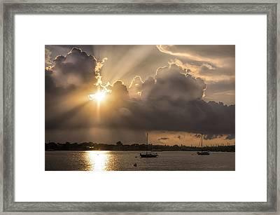 Sunrise St Augustine Bayfront Framed Print