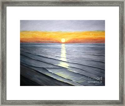 Framed Print featuring the painting Sunrise by Stacy C Bottoms