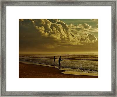 Sunrise Surf Fishing Framed Print by Ed Sweeney