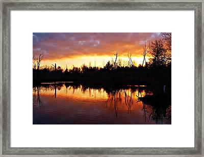 Sunrise Thanksgiving Morning Framed Print