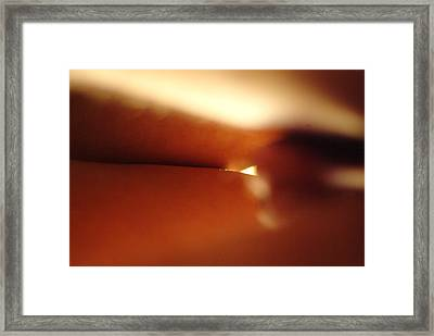 Sunrise Through Legs Framed Print