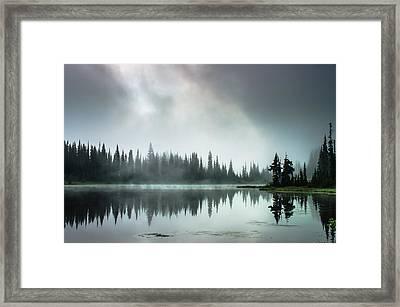 Sunrise Through The Mist Framed Print by Brian Xavier