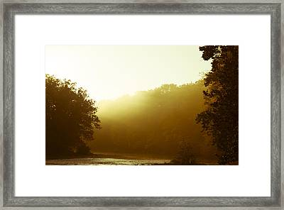 Framed Print featuring the photograph Sunrise Thru The Fog by Phil Abrams