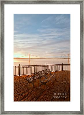 Sunrise To The Bay Framed Print by Jonathan Nguyen