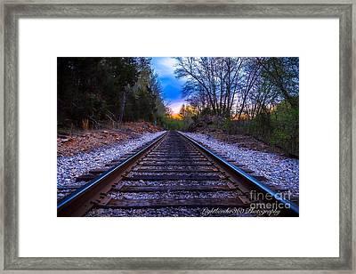 Sunrise Tracks Framed Print