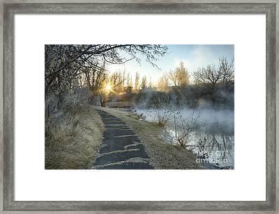 Sunrise Trail Framed Print