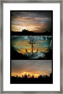 Sunrise Triptych Framed Print by Maria Urso