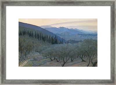 Sunrise Umbria 1914 Framed Print by Sir William Blake Richmond