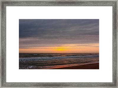 Sunrise Under The Clouds Framed Print by John M Bailey