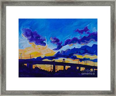 Sunrise Under The Overpass Framed Print