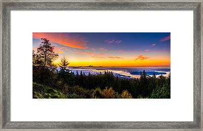 Sunrise Vancouver Framed Print by Ian Stotesbury