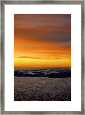 Sunrise View From Plane Framed Print by Alex King