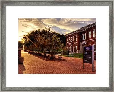Sunrise Walk At Western Carolina University Framed Print