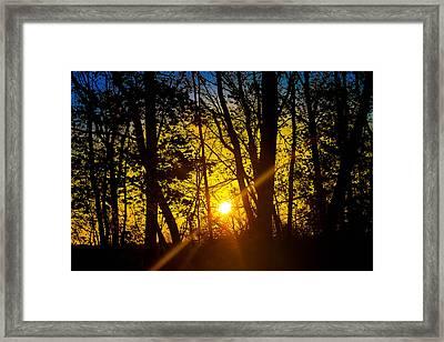 Sunrise With Blue - Horizontal Framed Print