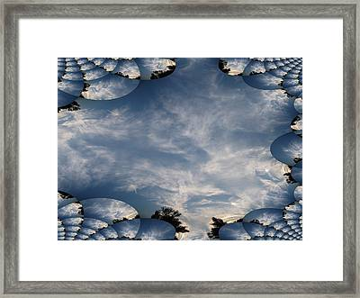 Sunrise With Fractal Trace Framed Print by Skyler Tipton