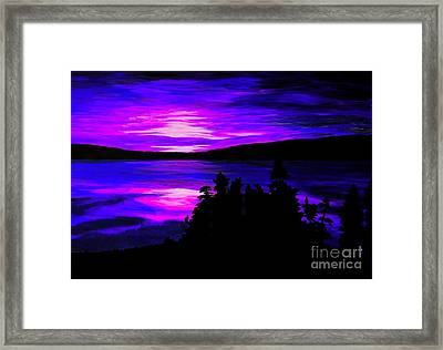 Sunrise With Receding Dark Clouds Framed Print