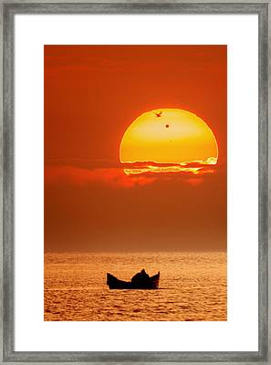Sunrise With Venus On It Framed Print by Alex Conu