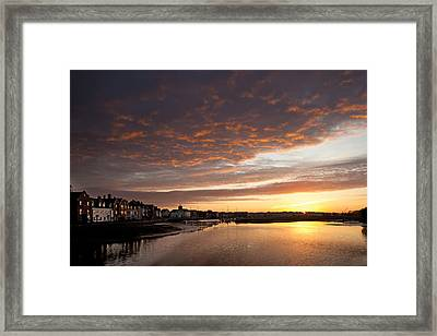 Framed Print featuring the digital art Sunrise Wivenhoe by David Davies