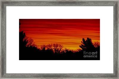 Sunrise Y-town Framed Print by Angela J Wright
