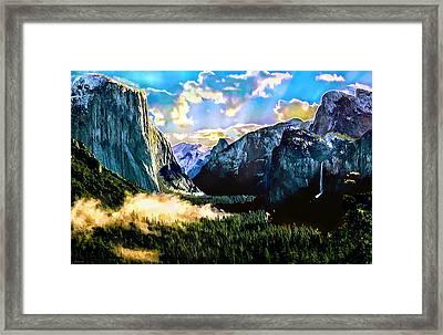 Sunrise Yosemite Valley Nationalpark Framed Print