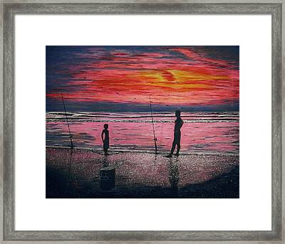 Sunrise.us. Framed Print by Viktor Lazarev