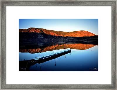 Sunrising - Skaha Lake 3-18-2014 Framed Print