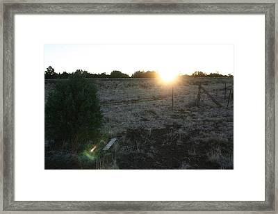 Framed Print featuring the photograph Sunrize by David S Reynolds