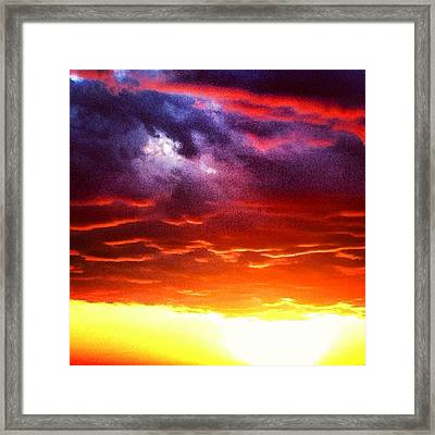 Suns Airbrush Framed Print by Jake Harral