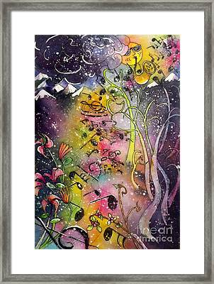 Suns Sax Spring Song Framed Print