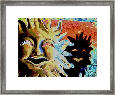 Sun's Shaddow Framed Print by Rebecca Flaig