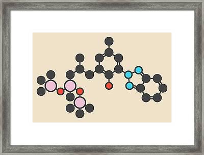 Sunscreen Molecule Framed Print by Molekuul