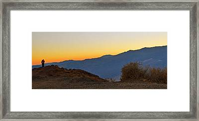 Framed Print featuring the photograph Sunset - Death Valley by Dana Sohr