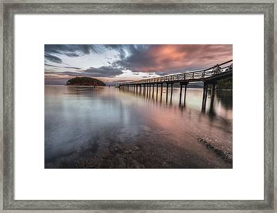 Framed Print featuring the photograph Sunset - Mayne Island by Jacqui Boonstra